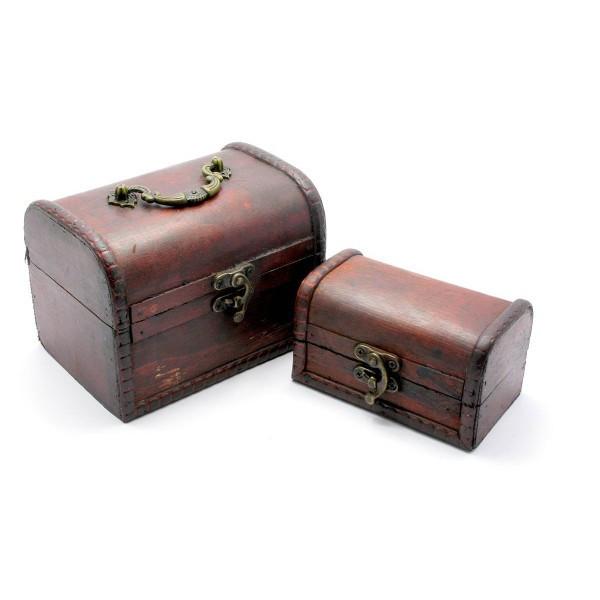 Сундучки деревянные набор 2 шт (15х10,5х11/12х7,5х7 см) ( 27001)