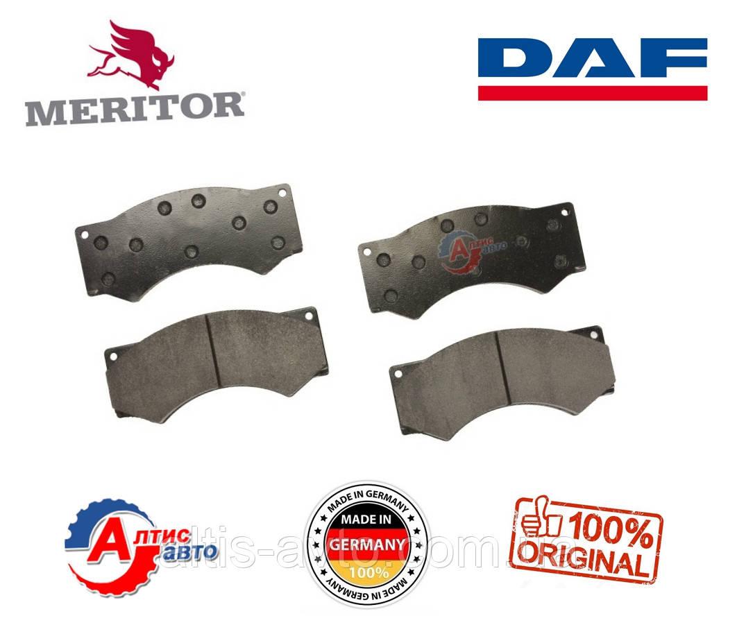 Колодки DAF 45, 55 тормозные передних суппортов Meritor MDP3017 для грузовика 190*87*23 мм