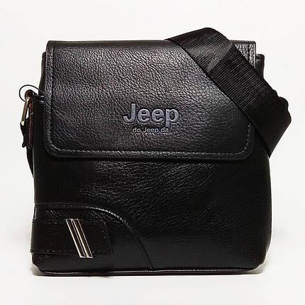 Мужская сумка через плечо Jeep. Черная. 21см х 19см / Кожа PU. 559 black, фото 2