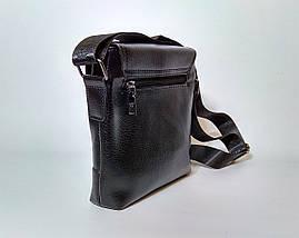 Мужская сумка через плечо Jeep. Черная. 21см х 19см / Кожа PU. 559 black, фото 3