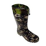 Сапоги мужские  резиновые камуфляж  шнурок, фото 3