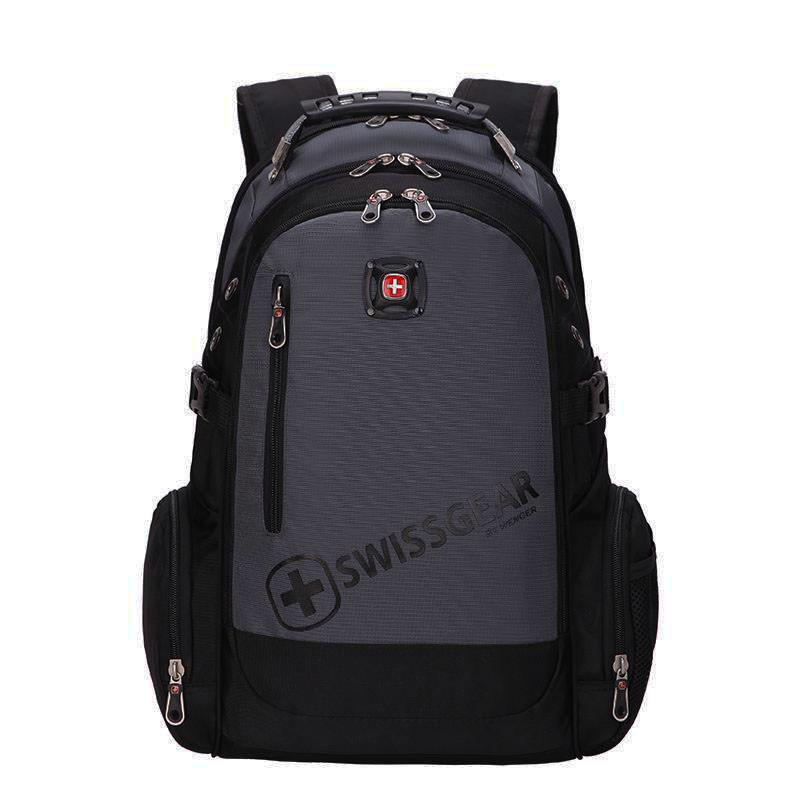Вместительный рюкзак SwissGear, свисгир. Черный с серым. 35L. 8816 grey