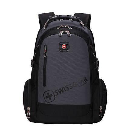 Вместительный рюкзак SwissGear, свисгир. Черный с серым. 35L. 8816 grey, фото 2