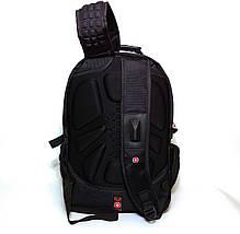 Вместительный рюкзак SwissGear, свисгир. Черный с серым. 35L. 8816 grey, фото 3