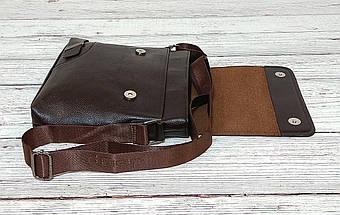 Мужская сумка через плечо Jeep. Коричневая. 25x23х5 Кожа PU / 559-2 brown, фото 3