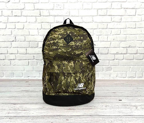 Вместительный рюкзак New Balance, нью бэланс. Пиксель, хаки, камуфляжный., фото 2