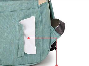 Сумка-рюкзак для мам LeQueen. Мятный, фото 2