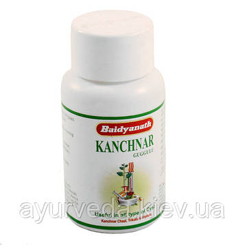 Канчнар гугул, канчнар гуггу, при заболеваниях лимфатической системы, Kanchnar Guggul (80tab)