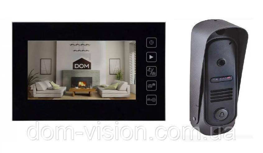 Видеодомофон Dom D7R + Вызывная панель. Распродажа с витрины.