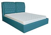 Кровать двуспальная Вегас голубой 160/180х200 см
