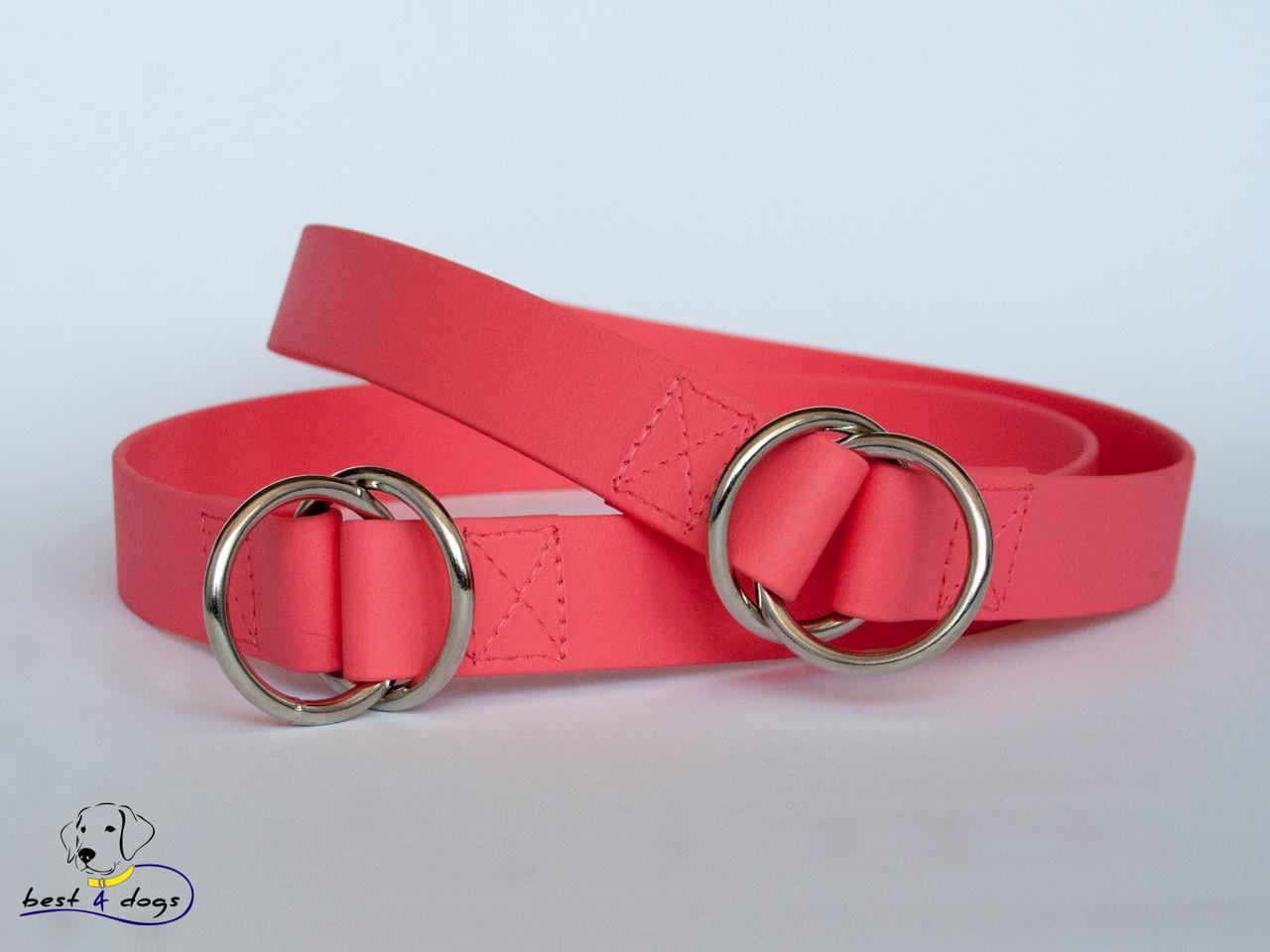 Ошейник-удавка из биотана, Розовый Коралловый, 25мм