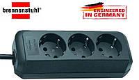 Удлинитель Brennenstuhl на 3 розетки, черный, кабель 1,5m