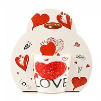"""Чашка декорированная фарфоровая """"Сердце LOVE"""" 320мл, фото 1"""