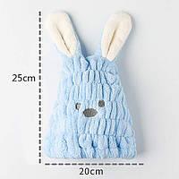 Шапка чалма тюрбан полотенце из микрофибры  для сушки волос, с ушками
