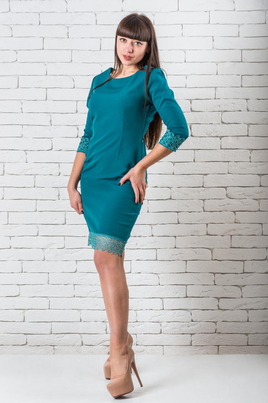 Платье женское 42-52 зеленый