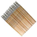 Кисти - 1 размер БЕЛКА №07, RA-7667 , 20 шт., круглая, натуральный ворс, деревянная ручка, фото 2