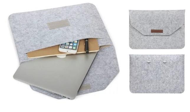 """Чехол конверт для ноутбука 13 """" войлок"""