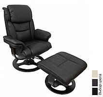 Офисное компьютерное кресло Bonro 5099 массажное с пуфом (офісне комп'ютерне крісло масажне для дома) Чёрный