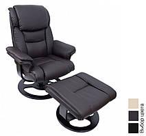 Офисное компьютерное кресло Bonro 5099 массажное с пуфом (офісне комп'ютерне крісло масажне для дома) Коричневый