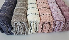 Лицевые махровые полотенца Vip Cotton «Cizgili» 6 шт (Турция)