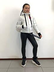 """Куртка весенняя """"Софи"""" на девочку перламутрово-белого цвета"""
