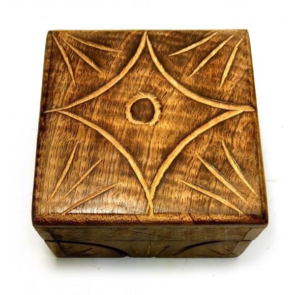 """Шкатулка из мангового дерева """"Антик"""" (10,5х10х6 см) ( 18105C)"""