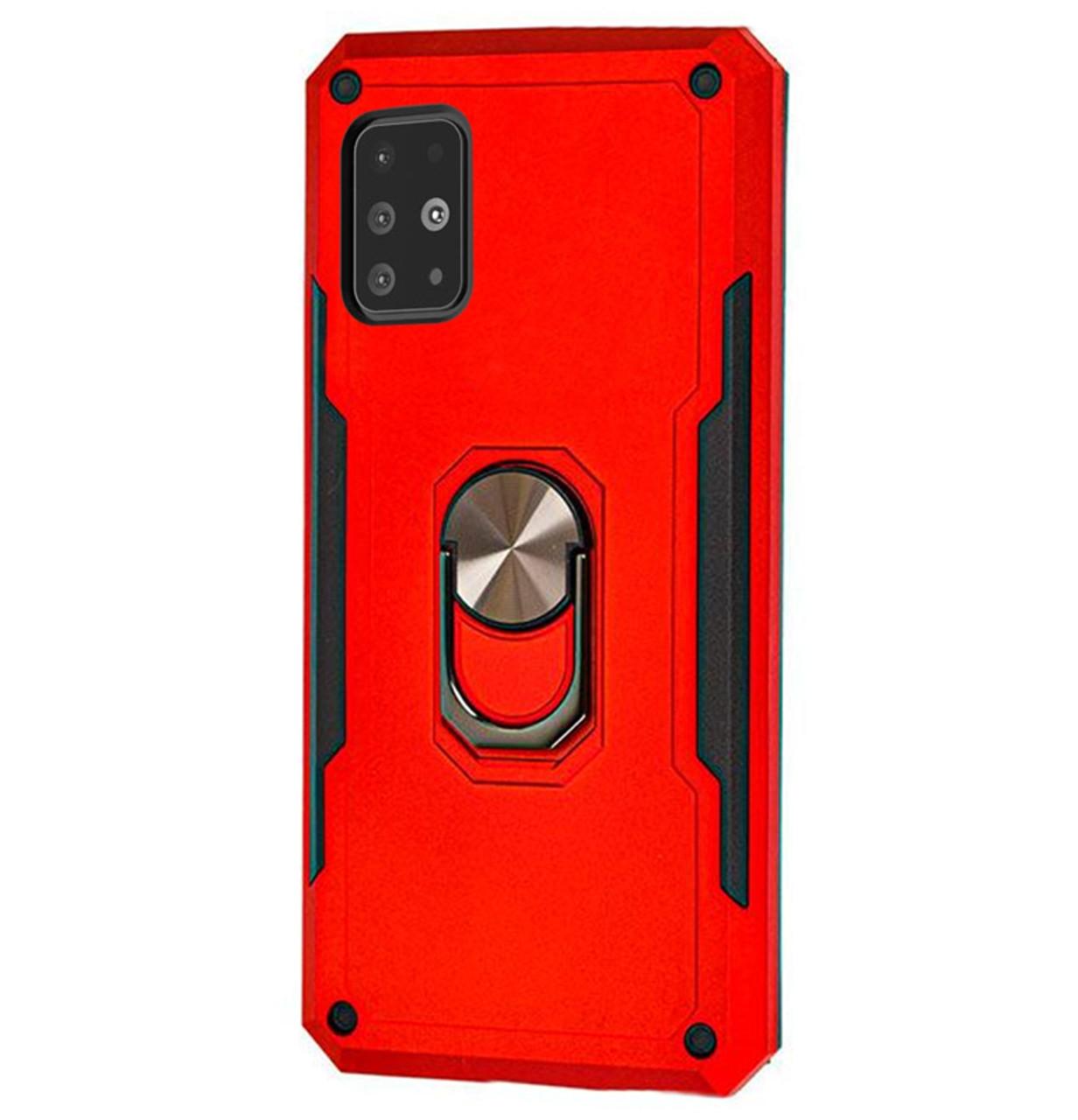 Ударопрочный чехол SG Ring Color с креплением под магнитный держатель для Samsung Galaxy A51 SM-A515F Red