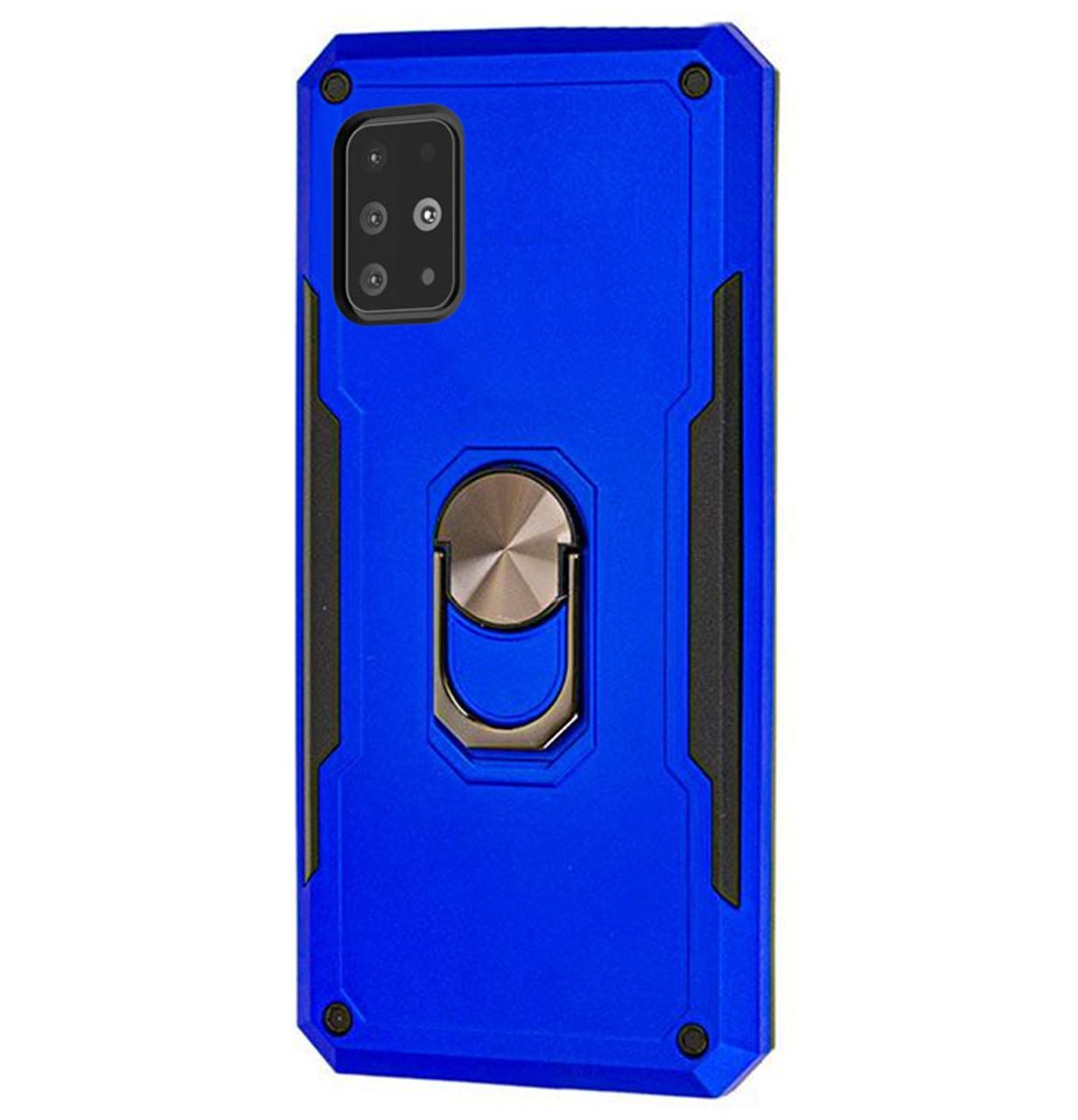 Ударопрочный чехол SG Ring Color с креплением под магнитный держатель для Samsung Galaxy A51 SM-A515F Blue