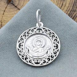 Срібна ікона Покрови розмір 26х19 мм вага 2.6 г