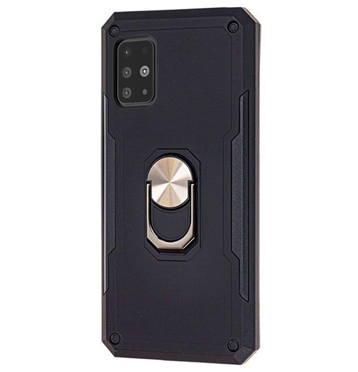 Ударопрочный чехол SG Ring Color с креплением под магнитный держатель для Samsung Galaxy A51 SM-A515F Black