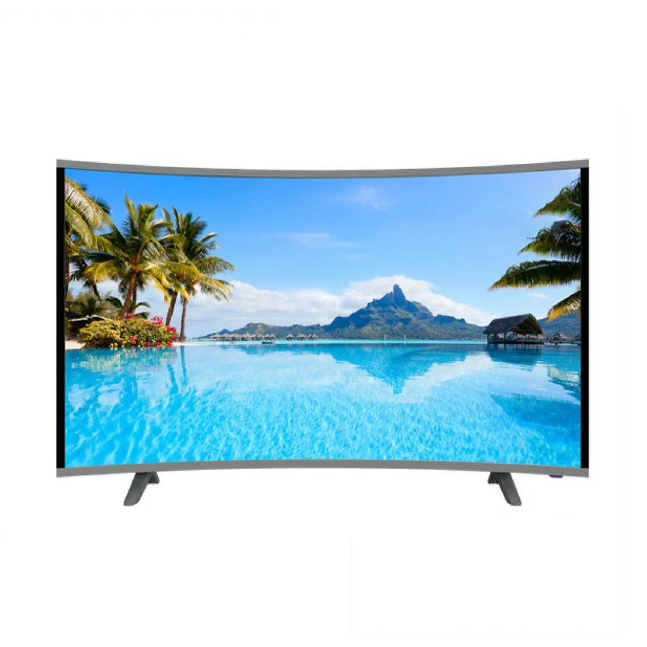 "Телевизор COMER 50"" Smart 4K (Android 7.1 (1/4) Изогнутый ( Смарт телевизор Комер 50 Андроид)"