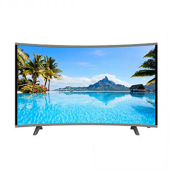 "Телевизор COMER 50"" Smart 4K (Android 7.1 (1/4) Изогнутый (Смарт телевизор Комер 50 Андроид) + Подарок"