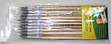 Кисти - 1 размер БЕЛКА №07, RA-7667 , 20 шт., круглая, натуральный ворс, деревянная ручка, фото 3