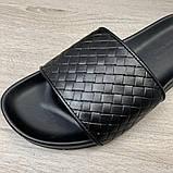 Шлепанцы мужские Bottega Veneta 19526 черные, фото 5
