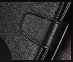 Стильный мужской кожаный клатч, кошелек. Черный. Baellerry Active. Балери, фото 3