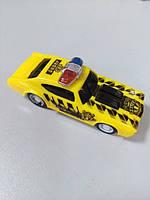 Машинка пластмассовая маленькая жёлтая полиция SUPER Car