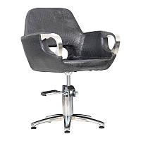 Перукарське крісло MEDIOLAN STEEL ,черний матовий крокодил
