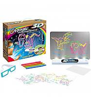 Планшет для рисования Magic Drawing Board 3D, Светящаяся доска для рисования