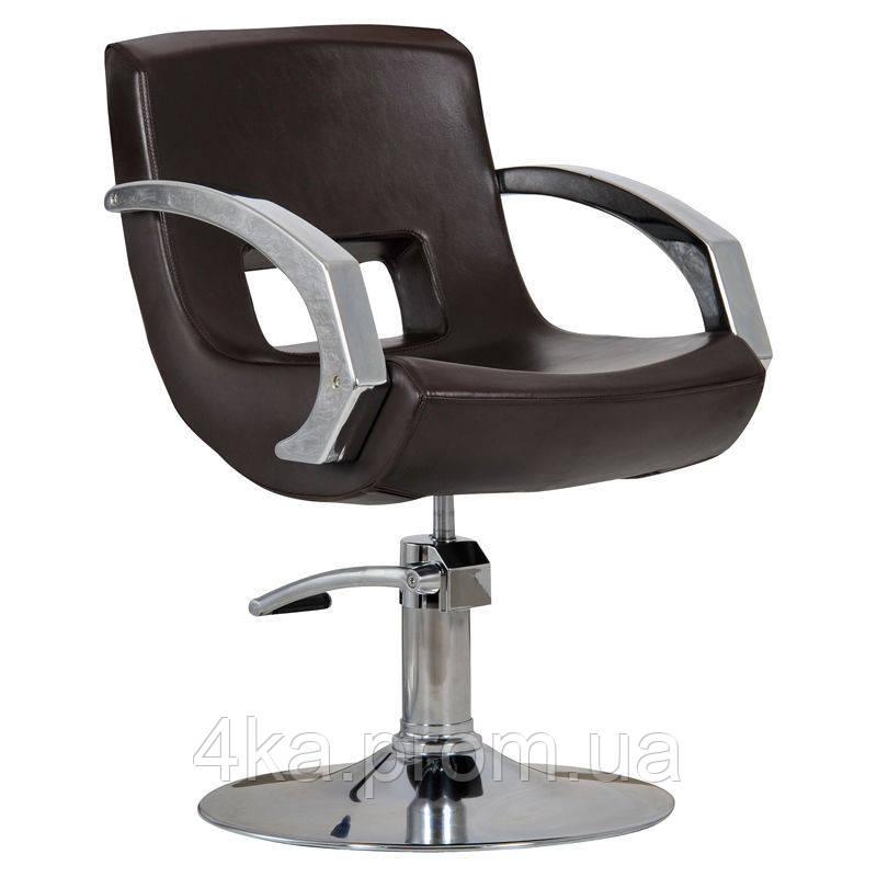 Перукарське крісло ROMA, коричневий