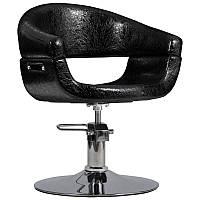 Перукарське крісло TOSCANIA, чорний крокодил, фото 1
