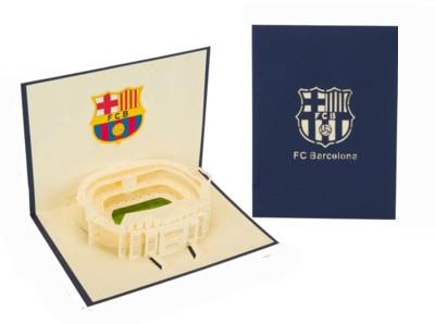 Вітальна листівка FC Barcelona об'ємна 3D