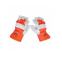 Спилковые рукавицы комбенированые