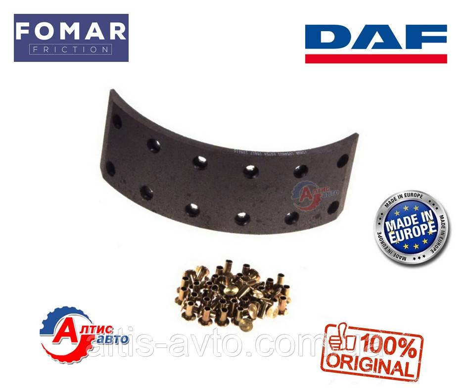 Задні гальмівні накладки DAF 45, Fomar WVA 15817, 15823 AMPA951, AMPB657, AMPB294, 325x97 мм