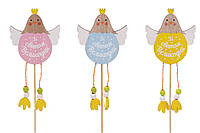 Декоративный пасхальный стик Курочка Зі святом Великодня, 3 вида 781-932, фото 1