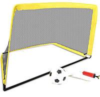Футбольные ворота игровые Deluxe Sports Toys MY1655 120 х 90 х 90 (детские, складные) + мяч и насос