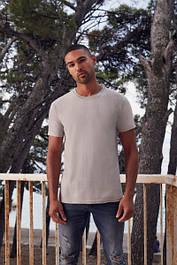 Мужские плотные однотонные футболки (61-422-0)