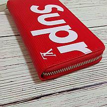 Стильний гаманець, клатч супрім. Supreme Louis Vuitton. Червоний, фото 3