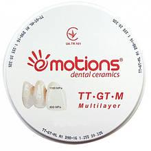 Циркониевый диск TT-GT-M цвет В1 Ø 98мм для CAD/CAM систем, Emotions (Эмоушенз)