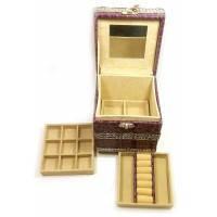 Шкатулка для бижутерии фиолетовая (12,5х12,5х12,5 см) ( 26332B)