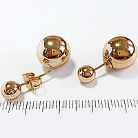 Серьги шарики dior  шарики -5мм и 13мм Xuping  с1021